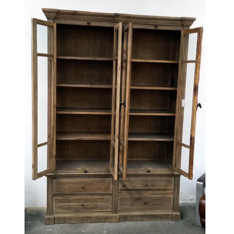 biblioth que vintage industrielle vieux bois demeure et. Black Bedroom Furniture Sets. Home Design Ideas