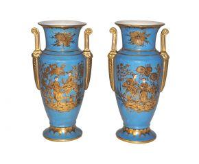 Vases turquoise style empire