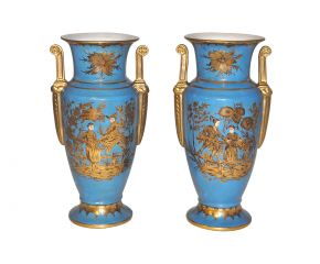 Vases turquoise style empire
