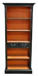 Petite bibliothèque Patinée Noire et Orange