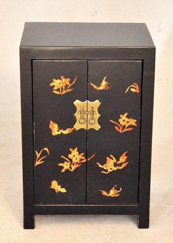 Chevet Style Chinois Laqué Noir