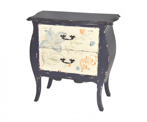 commode ile de r bleue vintage demeure et jardin. Black Bedroom Furniture Sets. Home Design Ideas