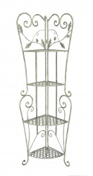 Etagere Encoignure fer forge Collection Chene