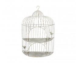 Petite Etagère Cage en Fer Forgé