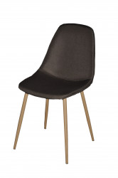 Chaise Design métal anthracite Style Scandinave