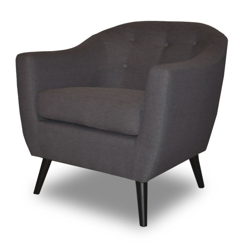 fauteuil crapaud gris style scandinave bjort demeure et. Black Bedroom Furniture Sets. Home Design Ideas