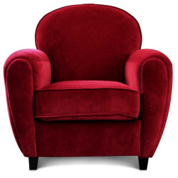 Fauteuil club velours rouge CINEMA