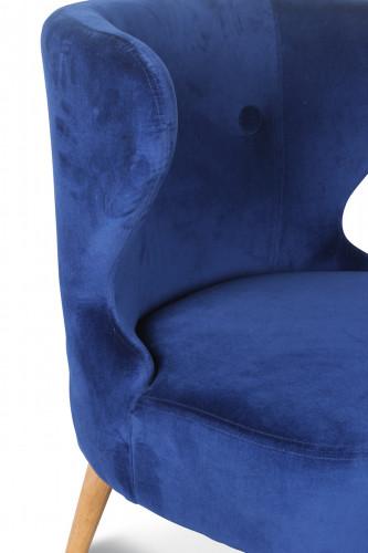 Fauteuil crapaud design scandinave bleu teal KOKÜN