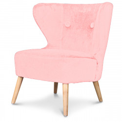 petit tabouret pouf rond rose poudr demeure et jardin. Black Bedroom Furniture Sets. Home Design Ideas