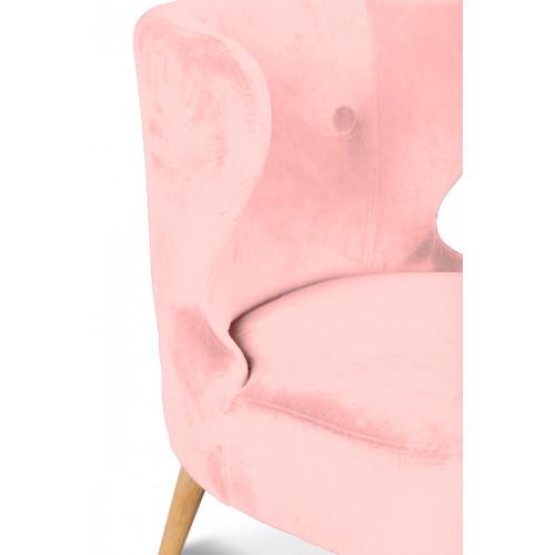Fauteuil crapaud design scandinave rose dragée KOKÜN