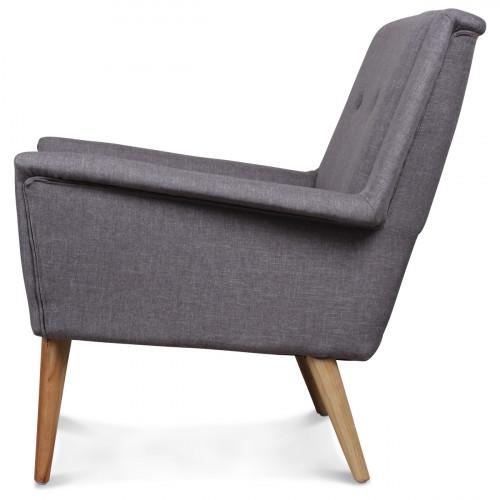Fauteuil design scandinave moderne gris souris FITZ