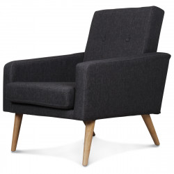 Fauteuil design scandinave moderne gris anthracite FITZ