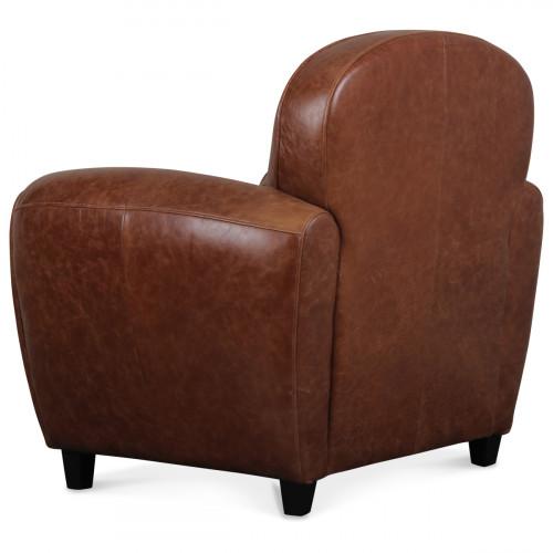 fauteuil club en cuir marron vintage industriel demeure. Black Bedroom Furniture Sets. Home Design Ideas