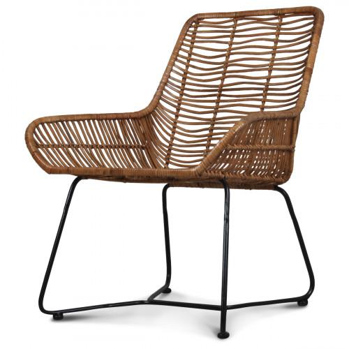 fauteuil design metal et rotin malaka demeure et jardin. Black Bedroom Furniture Sets. Home Design Ideas