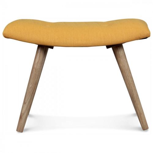 tabouret scandinave repose pieds tissu jaune moutarde. Black Bedroom Furniture Sets. Home Design Ideas