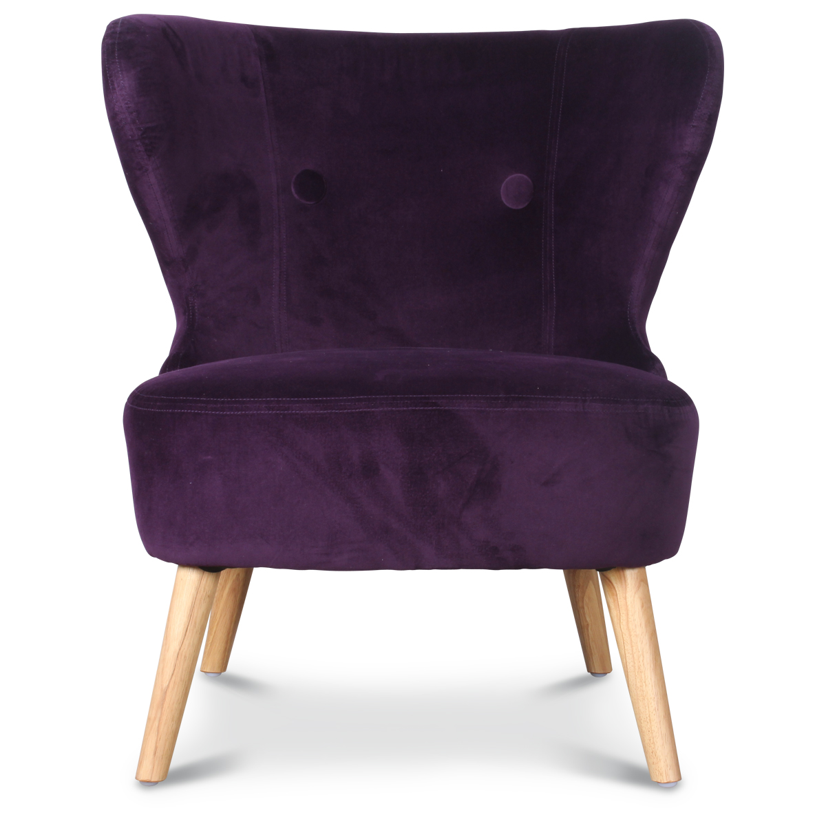 fauteuil crapaud design scandinave aubergine kok n demeure et jardin. Black Bedroom Furniture Sets. Home Design Ideas
