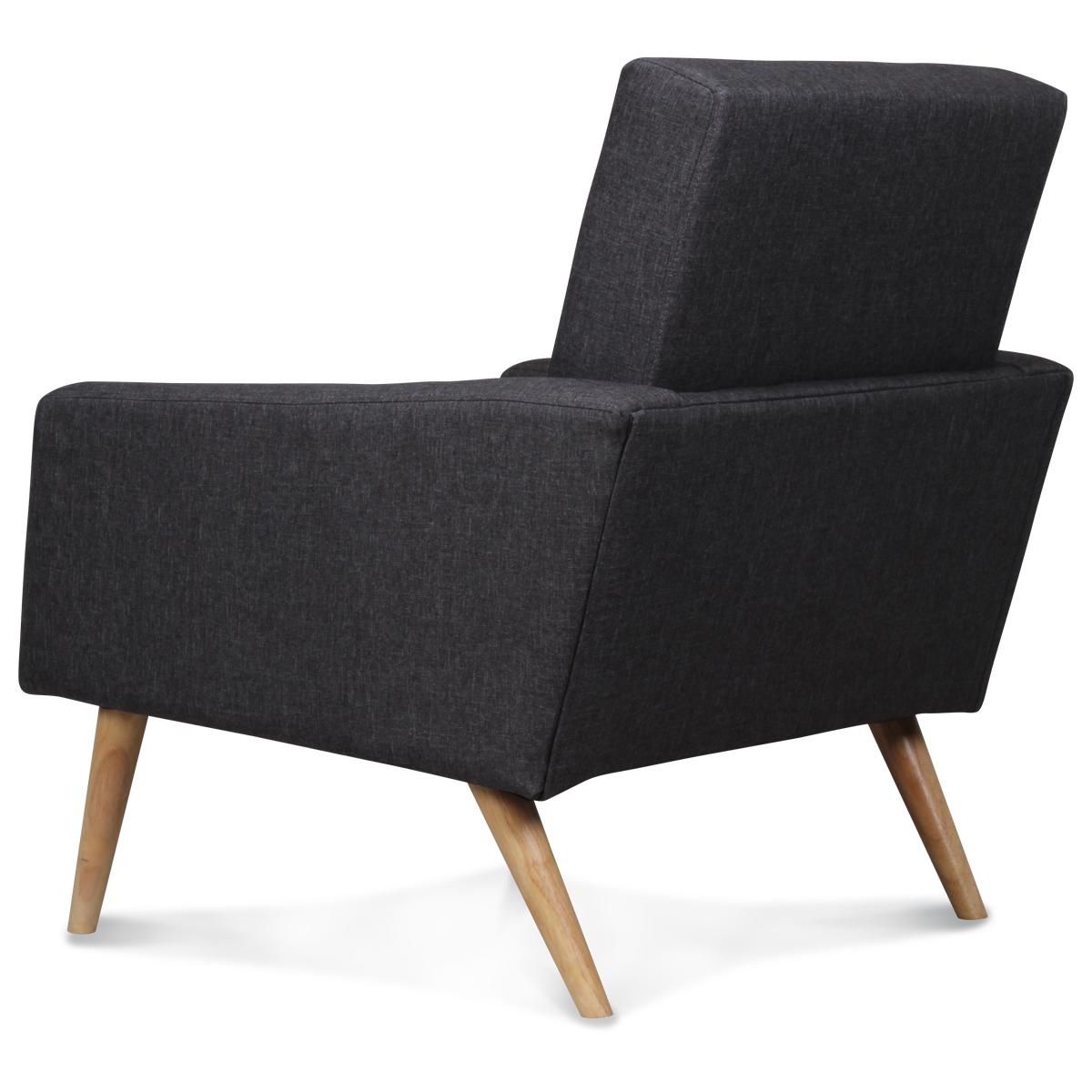 Fauteuil design scandinave moderne gris anthracite fitz demeure et jardin - Fauteuil moderne design ...