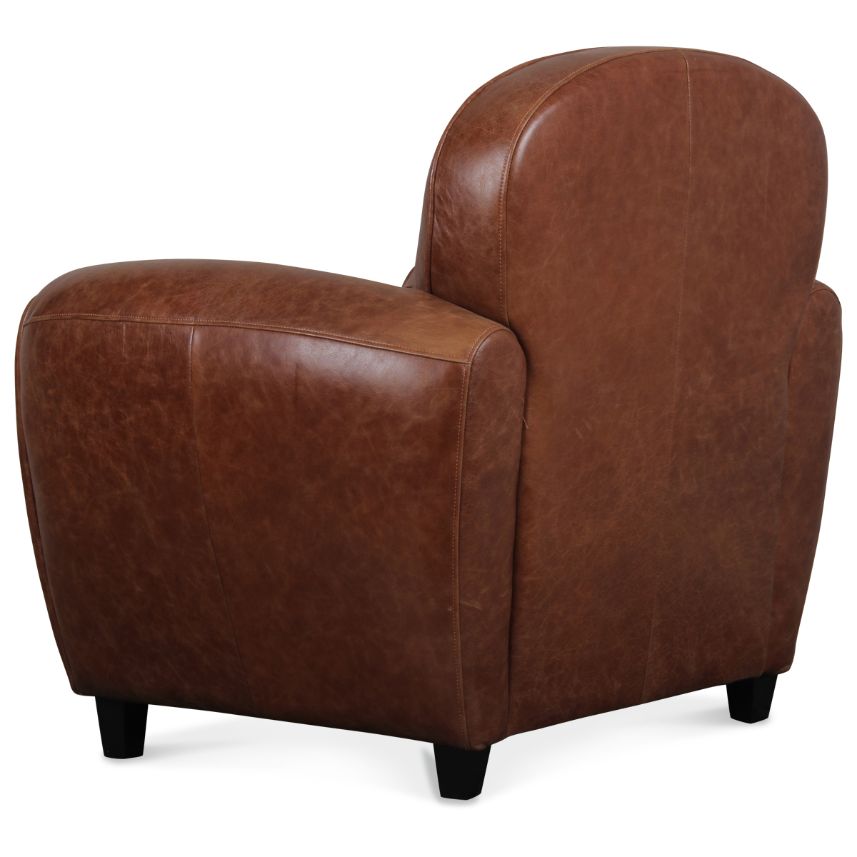 fauteuil club en cuir marron vintage industriel demeure. Black Bedroom Furniture Sets. Home Design Ideas