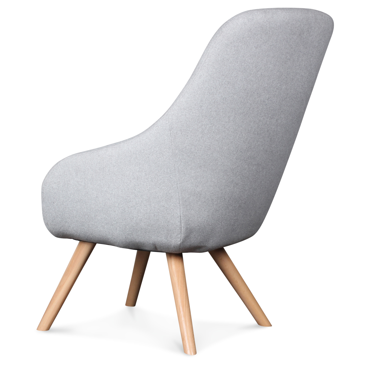 fauteuil design scandinave tissu gris flanelle egg demeure et jardin. Black Bedroom Furniture Sets. Home Design Ideas