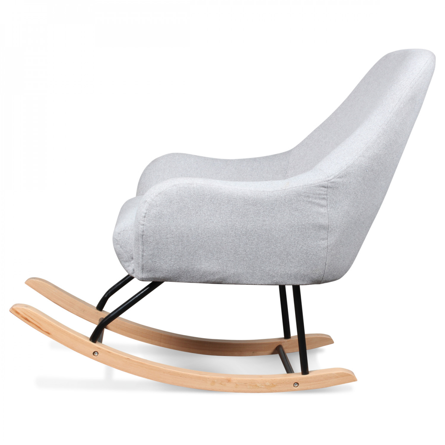 Fauteuil Rocking Chair Design Scandinave Bois Et Métal SLEDGE - Fauteuil rocking chair design