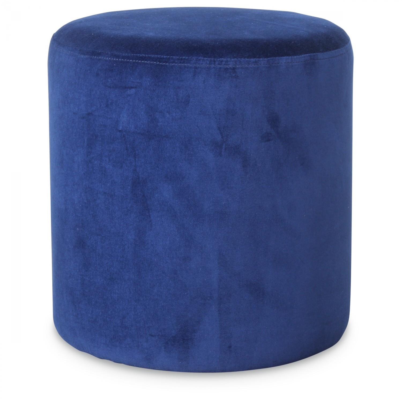 petit tabouret rond en velours bleu vif demeure et jardin. Black Bedroom Furniture Sets. Home Design Ideas