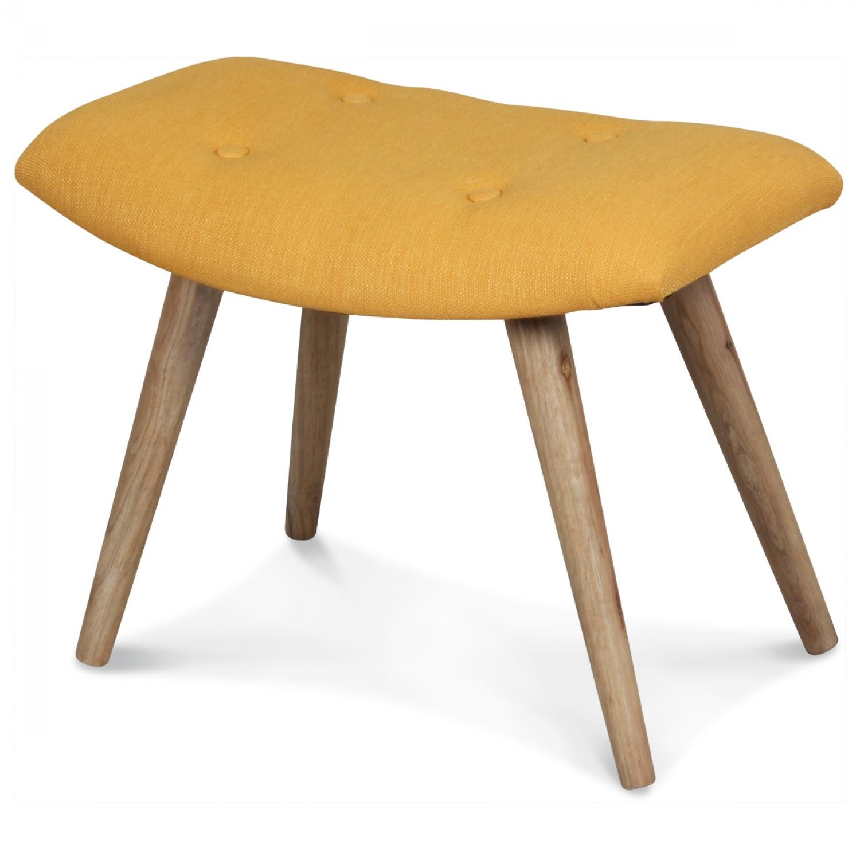 tabouret scandinave repose pieds tissu jaune moutarde demeure et jardin. Black Bedroom Furniture Sets. Home Design Ideas