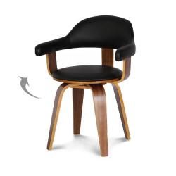 Chaise design scandinave rotative noire PYÖRIVÄ