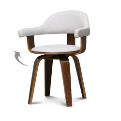Chaise design scandinave rotative blanche PYÖRIVÄ