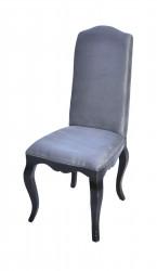 Elégante Chaise grise bois laqué noir