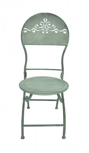 chaise patine zinc demeure et jardin. Black Bedroom Furniture Sets. Home Design Ideas