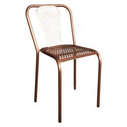 Chaise en métal style vintage couleur cuivrée