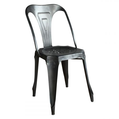 chaise en m tal style vintage industriel noire patin e demeure et jardin. Black Bedroom Furniture Sets. Home Design Ideas