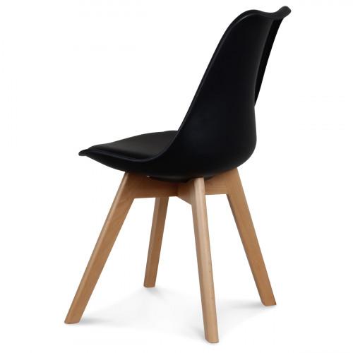 Chaise style scandinave noire toundra demeure et jardin - Chaise style scandinave ...