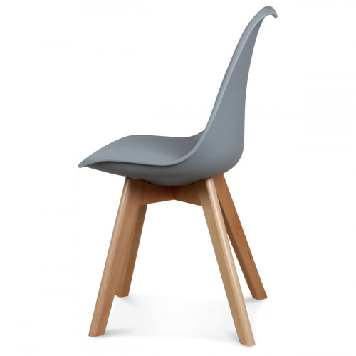 Chaise Design Grise Style Scandinave TOUNDRA