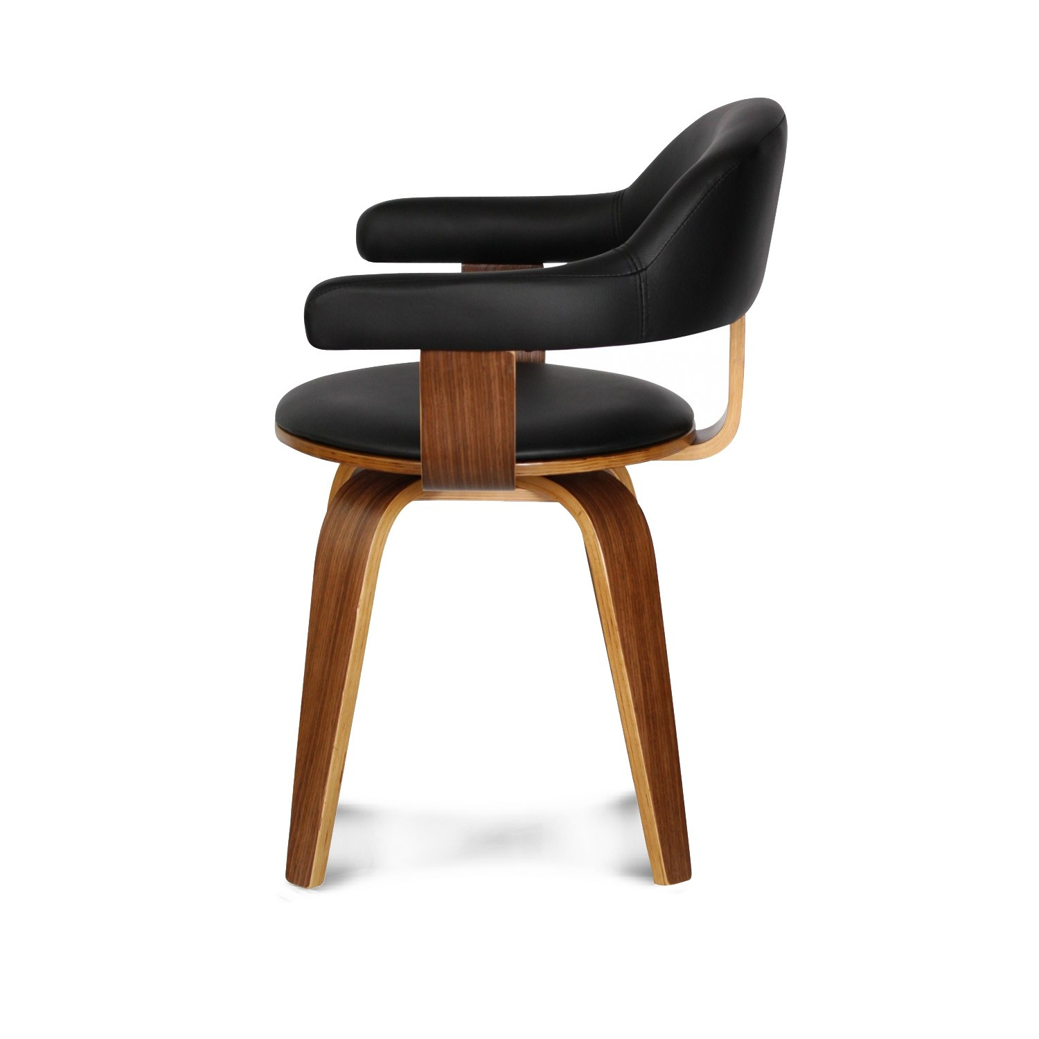 Chaise Design Scandinave Rotative Noire PYORIVA