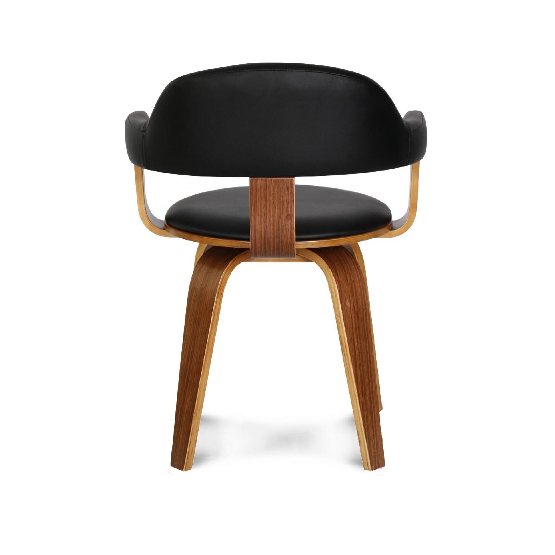 chaise design scandinave rotative noire py riv demeure et jardin. Black Bedroom Furniture Sets. Home Design Ideas