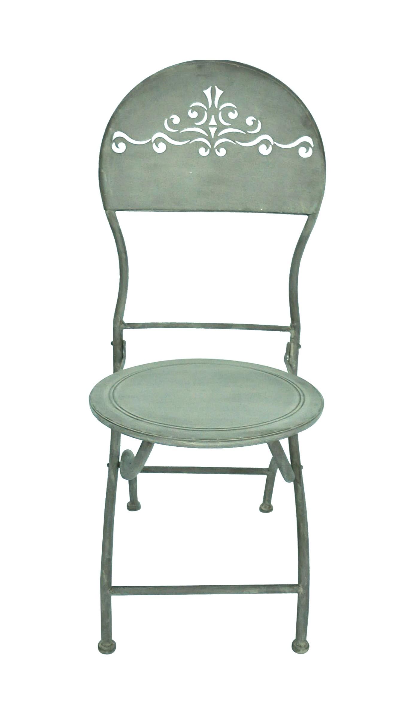 Chaise patine zinc demeure et jardin for Chaise tole