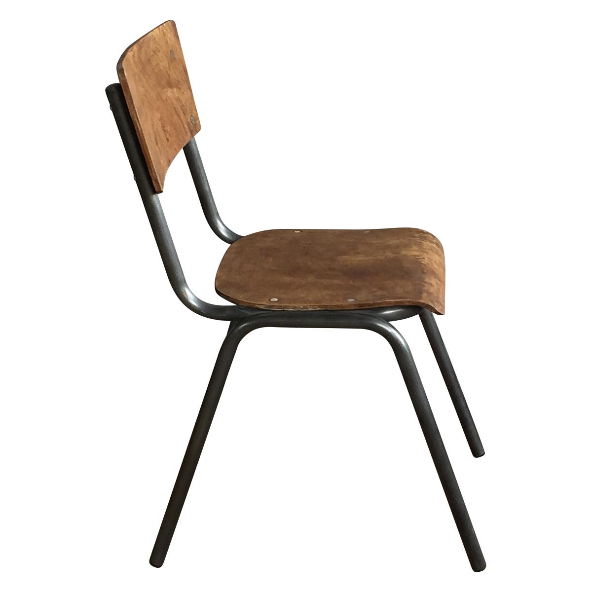 Chaise d 39 ecolier style vintage industriel demeure et jardin for Chaise ecolier vintage