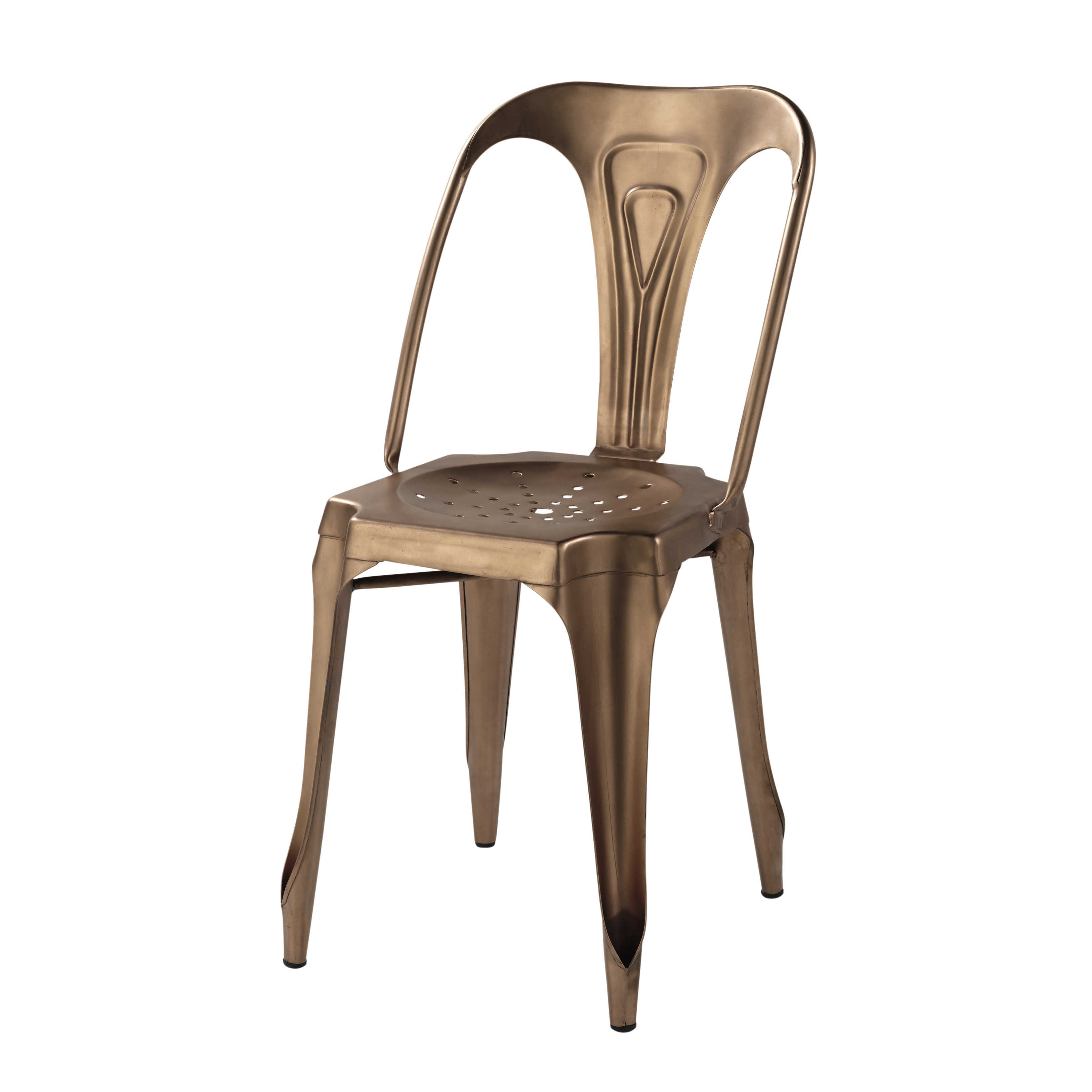 Chaise en m tal style vintage industriel demeure et jardin - Chaise type industriel ...