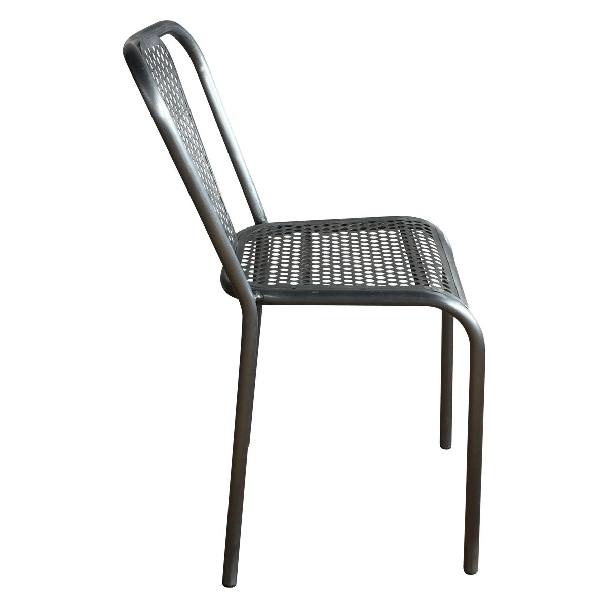 Chaise en m tal grise style industriel demeure et jardin - Chaise style industriel ...