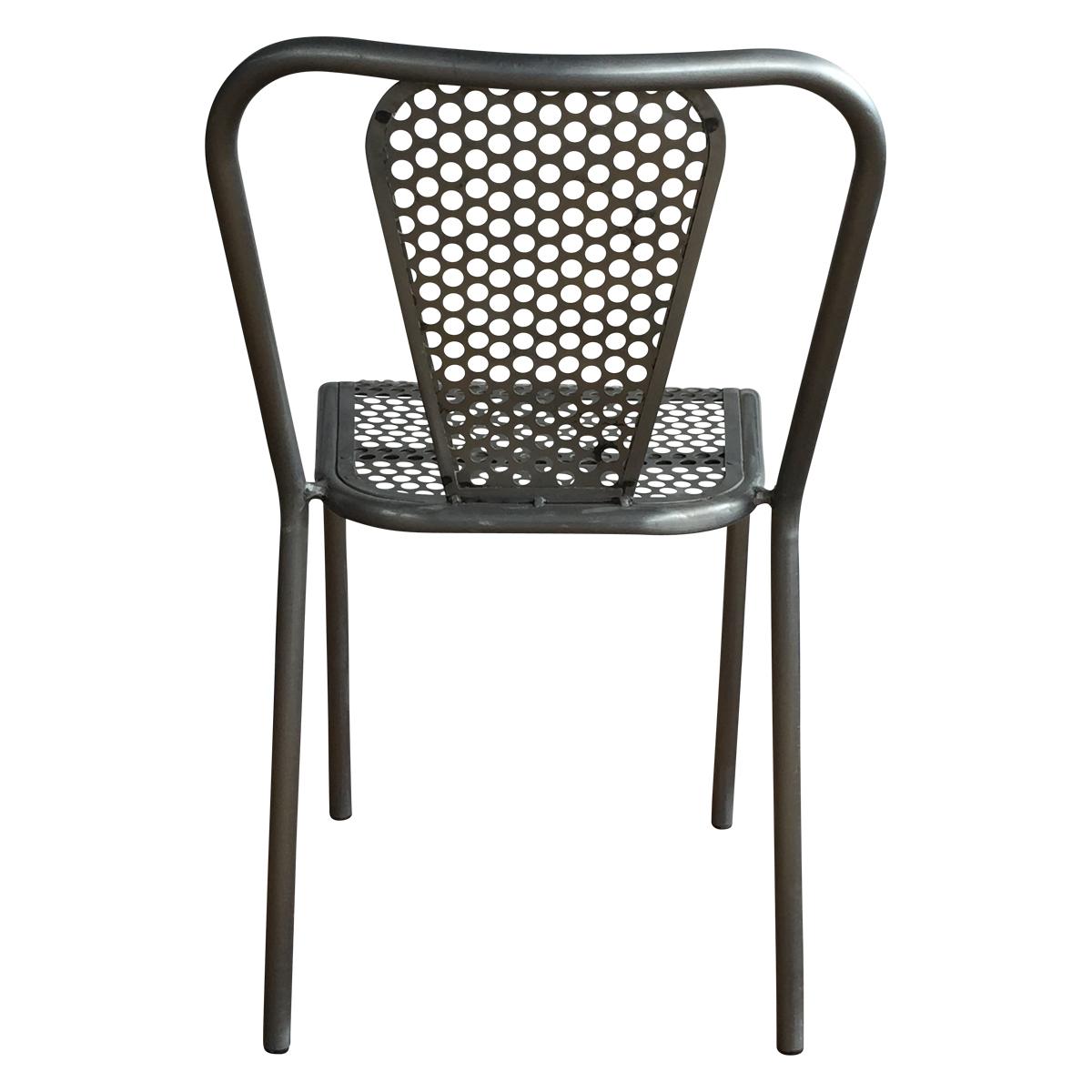 Chaise en m tal grise style industriel demeure et jardin - Chaise en fer industriel ...