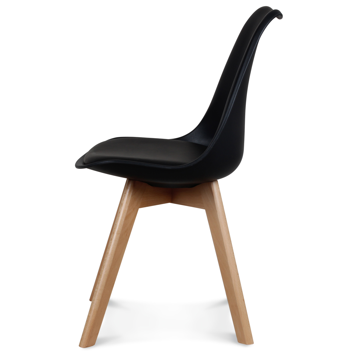 Chaise Style Scandinave Noire TOUNDRA