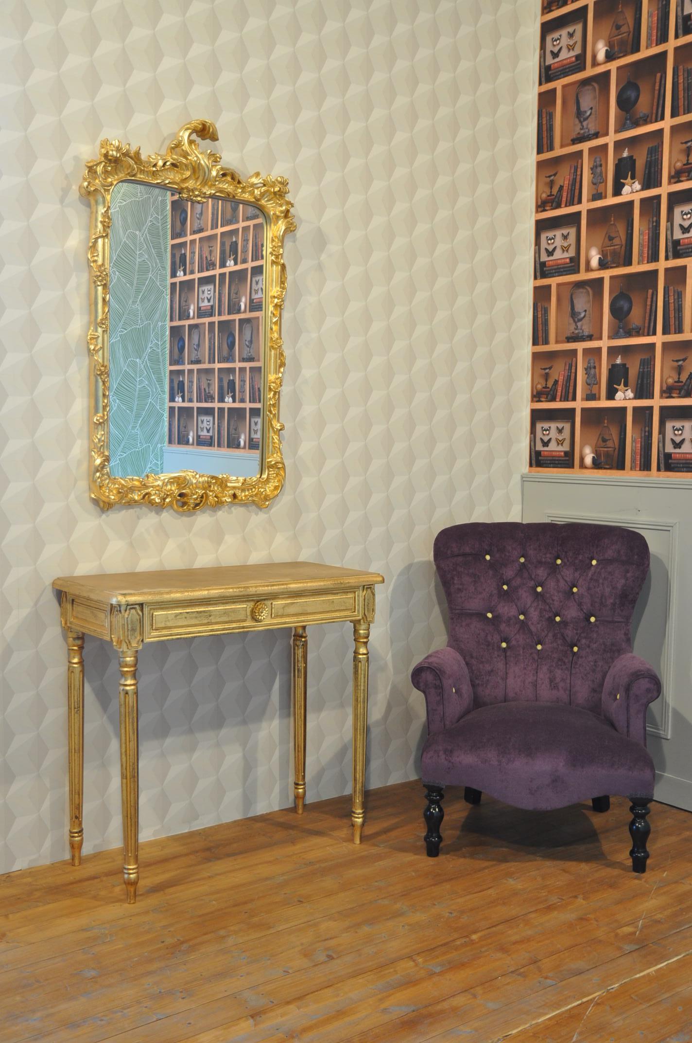fauteuil velours mauve demeure et jardin. Black Bedroom Furniture Sets. Home Design Ideas