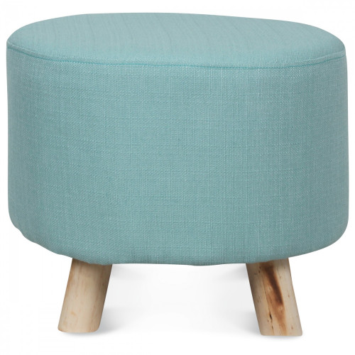 tabouret rond style scandinave en bois bleu ciel demeure et jardin. Black Bedroom Furniture Sets. Home Design Ideas