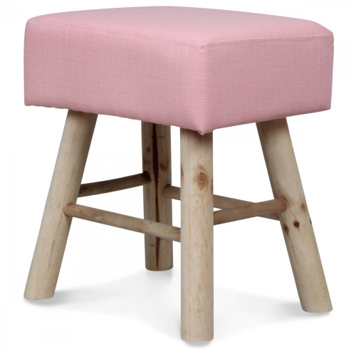 petit tabouret rectangulaire style scandinave en bois vieux rose demeure et jardin. Black Bedroom Furniture Sets. Home Design Ideas