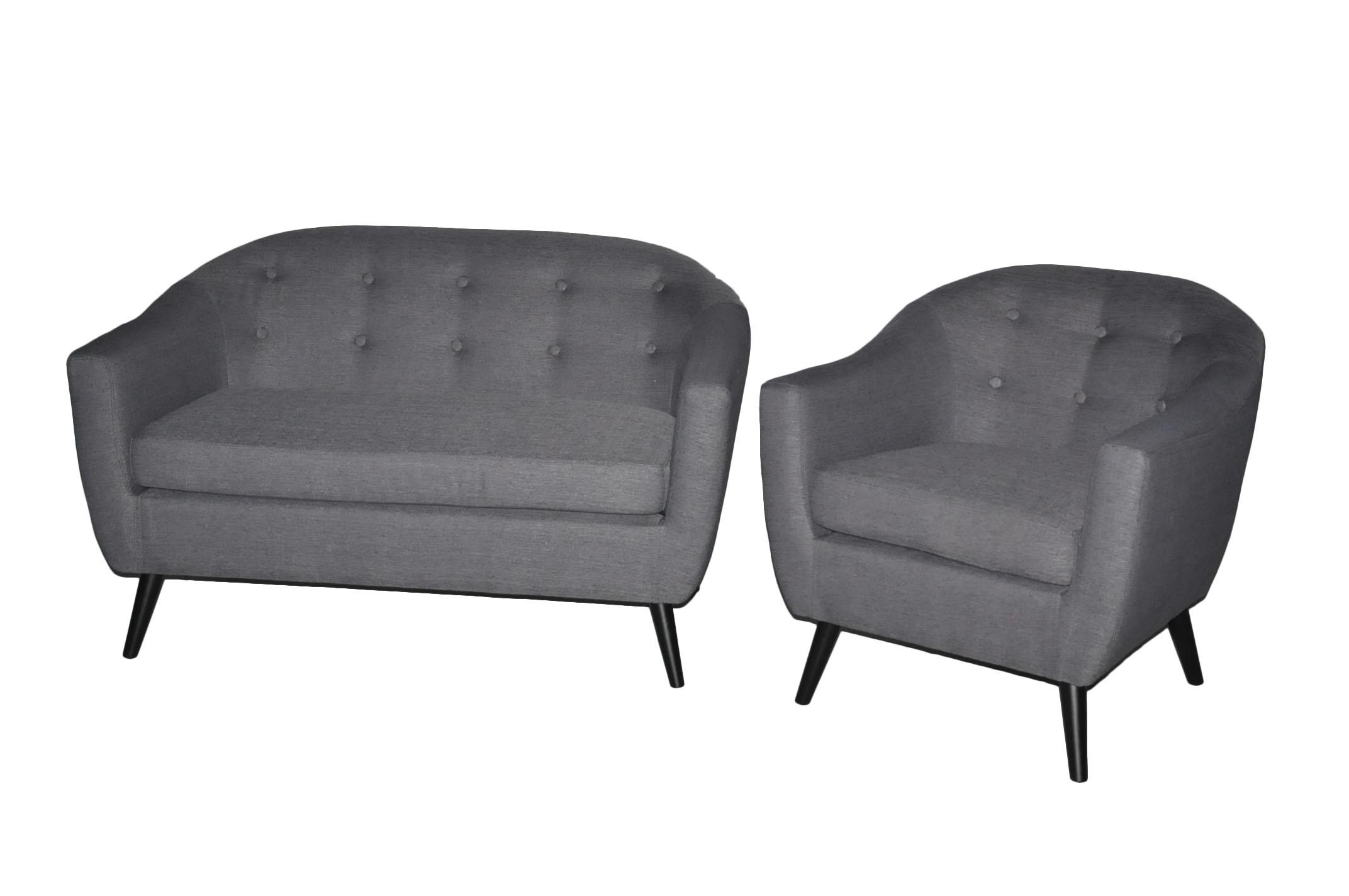 petite banquette style scandinave retro tissu gris bjort demeure et jardin. Black Bedroom Furniture Sets. Home Design Ideas