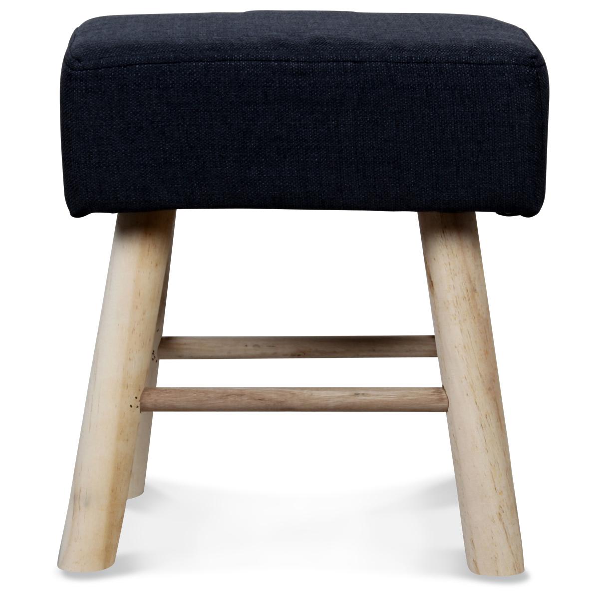 petit tabouret rectangulaire style scandinave en bois gris. Black Bedroom Furniture Sets. Home Design Ideas