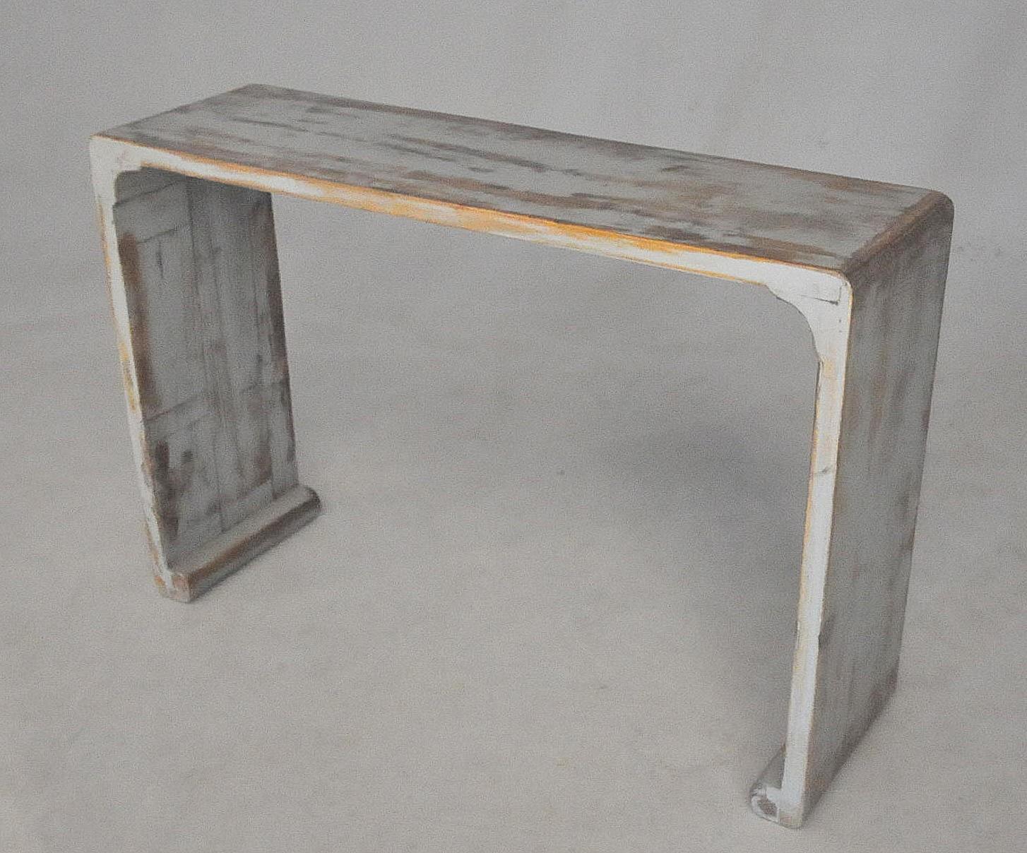 console patine lazur grise demeure et jardin. Black Bedroom Furniture Sets. Home Design Ideas