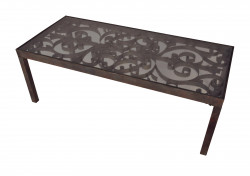 Table basse plateau de verre
