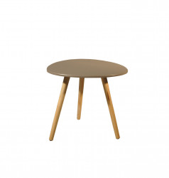 Petite table scandinave forme galet taupe